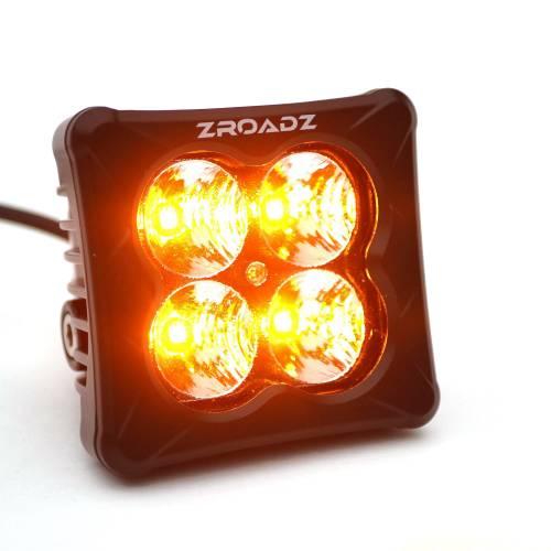 ZROADZ OFF ROAD PRODUCTS - 3 inch ZROADZ LED Light Pod, G2 Series, Amber, Flood Beam, 1 Piece - PN #Z30BC12W-D3A - Image 4