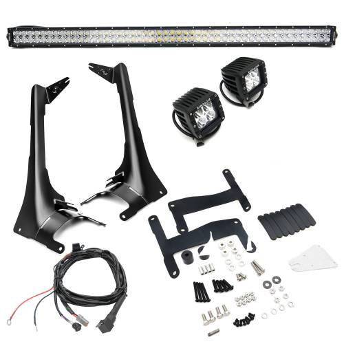 ZROADZ OFF ROAD PRODUCTS - Jeep JL, Gladiator Front Roof LED Kit with (1) 50 Inch LED Straight Double Row Light Bar and (2) 3 Inch LED Pod Lights - PN #Z374831-KIT2 - Image 2